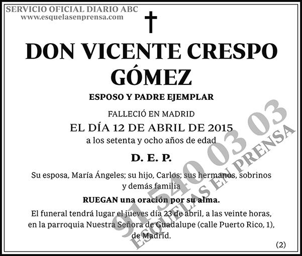 Vicente Crespo Gómez